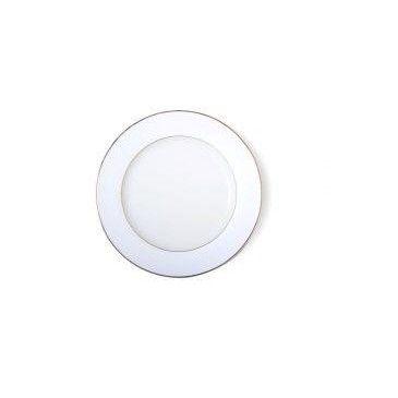 Assiette porcelaine de présentation Filet or