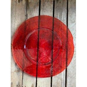 Assiette Verre Rouge