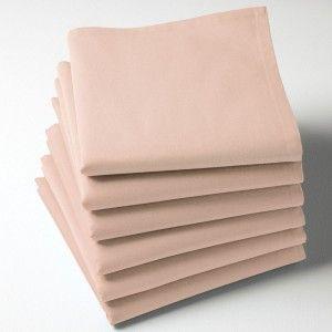 Serviette tissu rose poudré