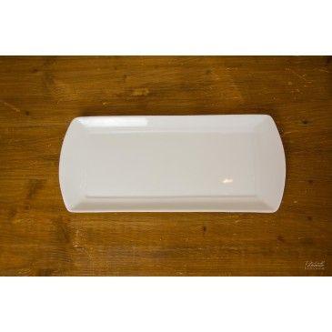 Assiette rectangulaire porcelaine Victoire
