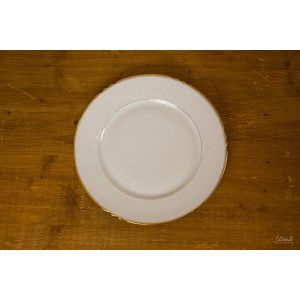 Assiette plate dorée
