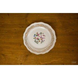 Assiette plate fleurie