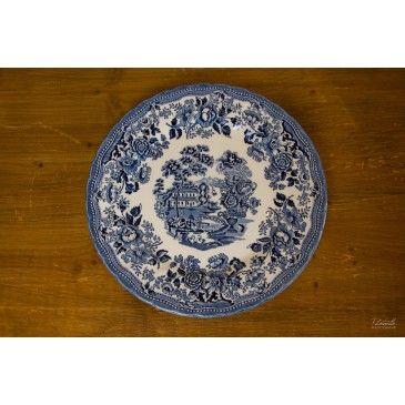 Assiette plate Bleue