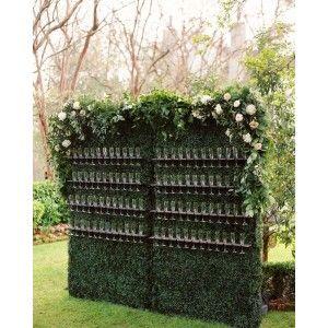 Mur végétal flûte à champagne