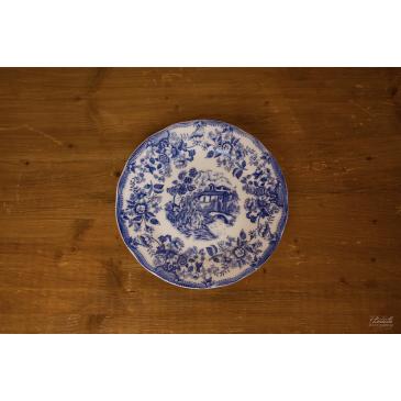 Assiette dessert Bleue